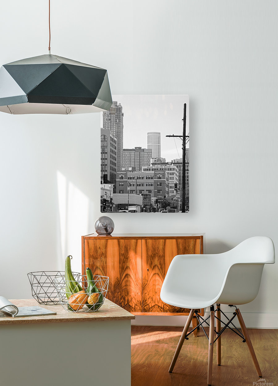 DTLA Near 8th & San Pedro  HD Metal print with Floating Frame on Back