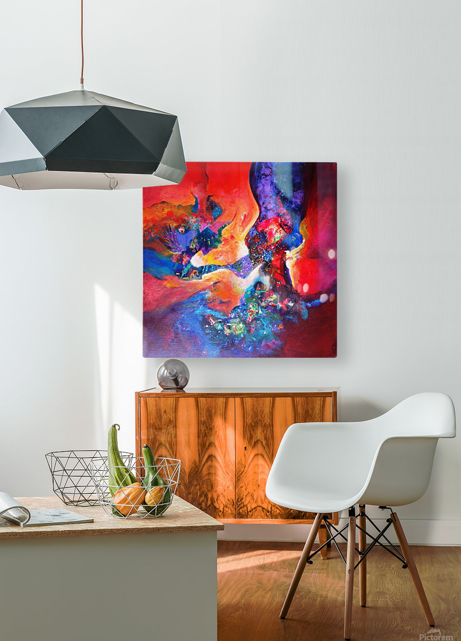 harmony II,size 33 inches x33 inches, medium acrylic on canvas  HD Metal print with Floating Frame on Back