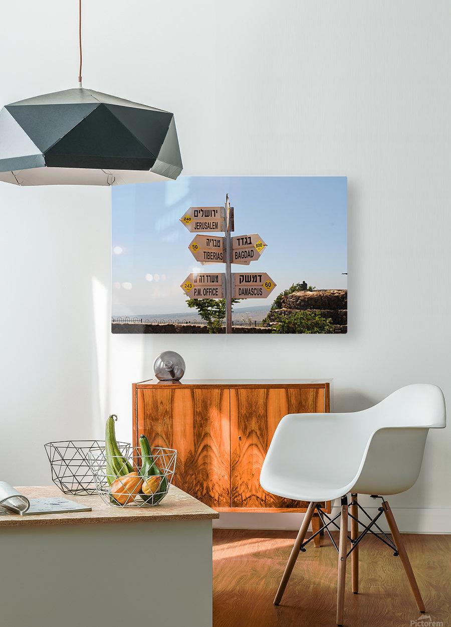 Israel Crossroads  HD Metal print with Floating Frame on Back