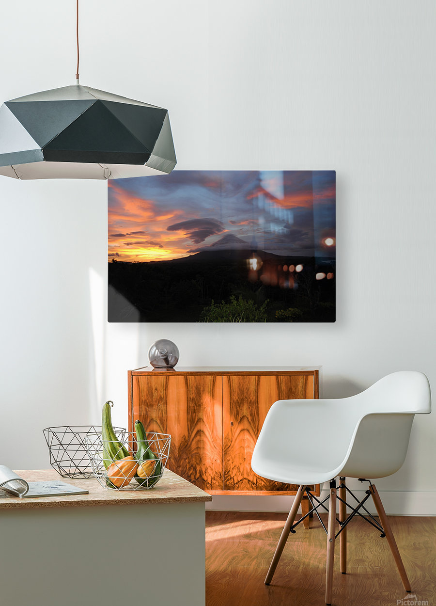 Volcanic Dream  HD Metal print with Floating Frame on Back