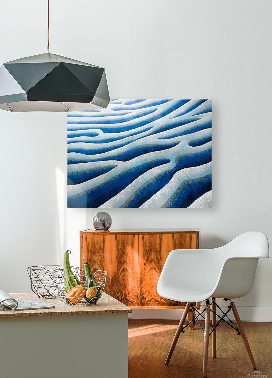 The Ice Field - La Banquise  Impression métal HD avec cadre flottant sur le dos