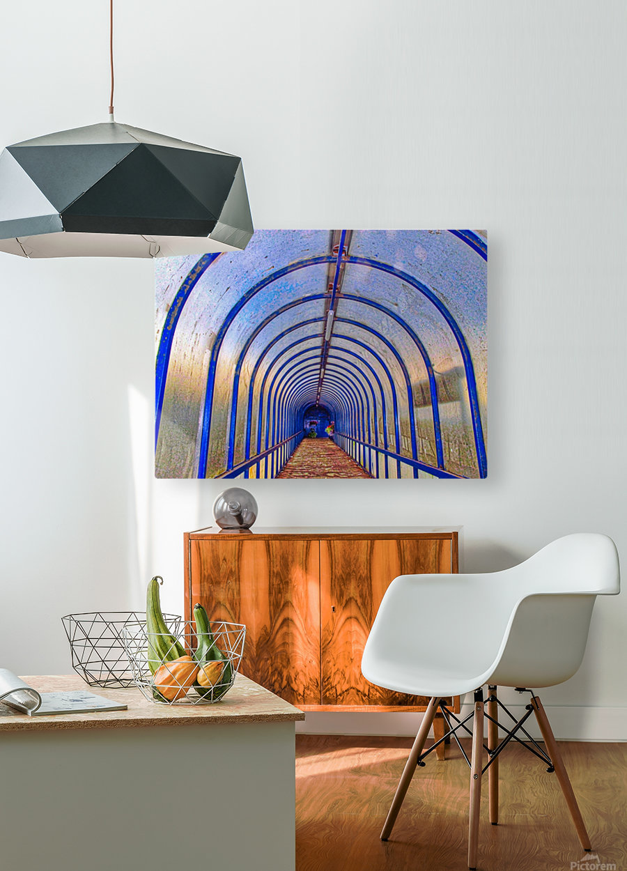 Blue perspective  HD Metal print with Floating Frame on Back