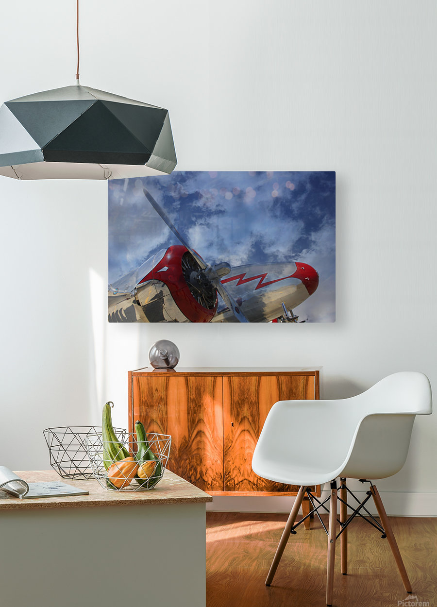 lockheadmodel18  HD Metal print with Floating Frame on Back