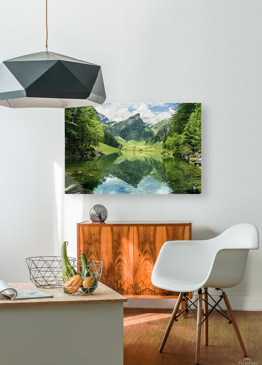 Tranquil scene of seealpsee lake   HD Metal print with Floating Frame on Back