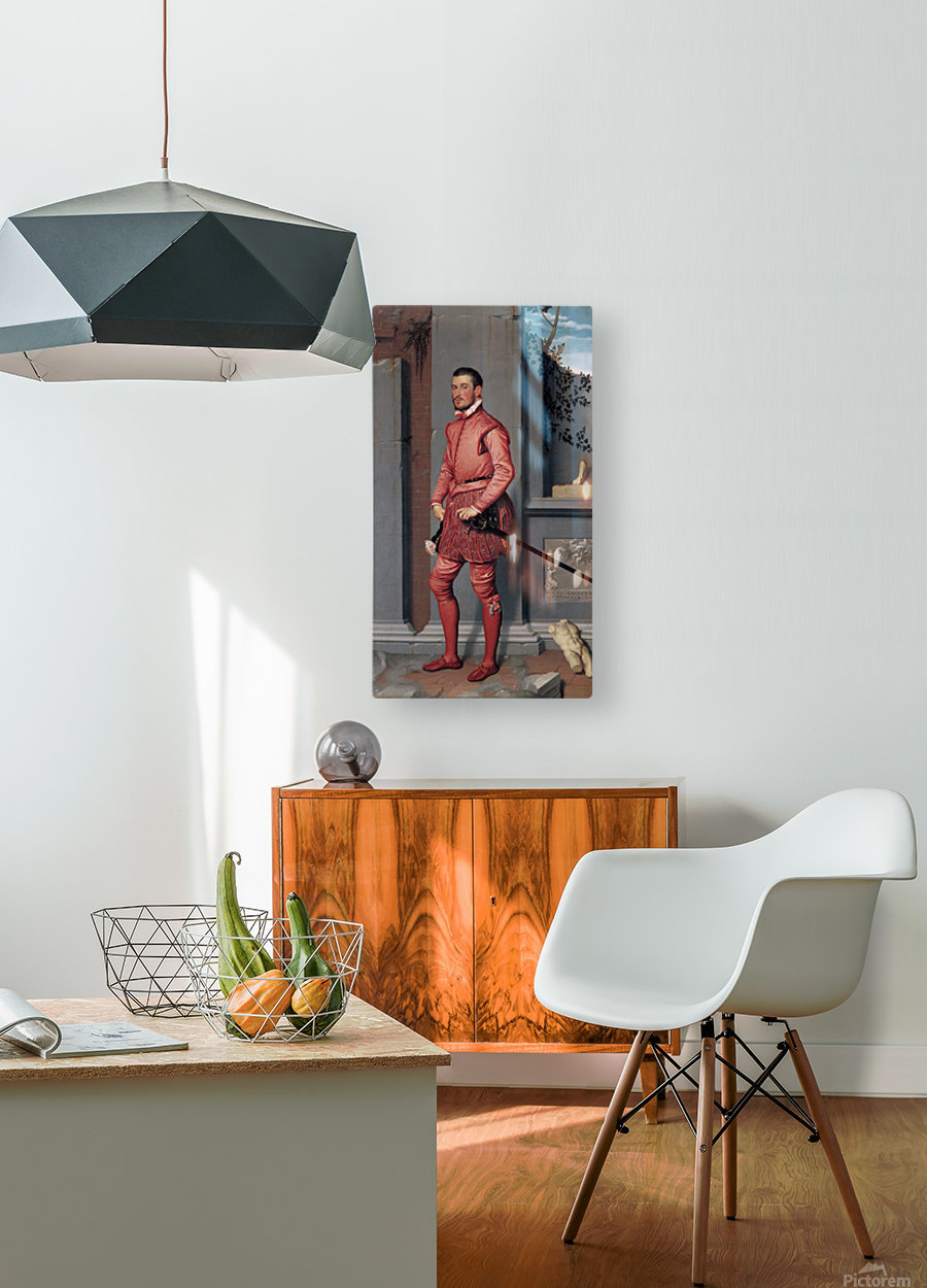 The Gentleman in Pink  HD Metal print with Floating Frame on Back