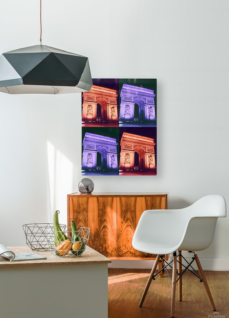 ARC at MIDNIGHT  HD Metal print with Floating Frame on Back