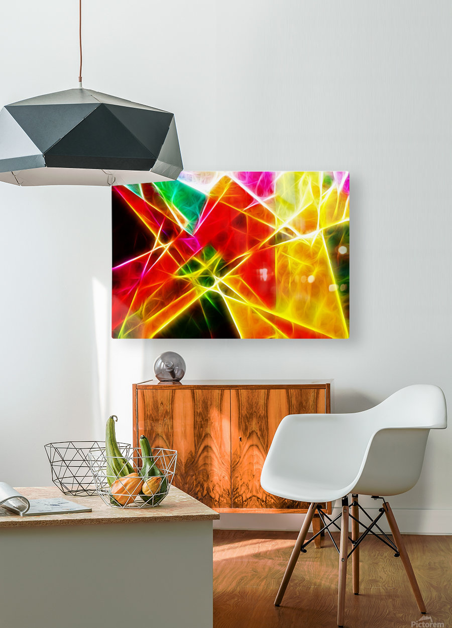 Geometric Colors  HD Metal print with Floating Frame on Back