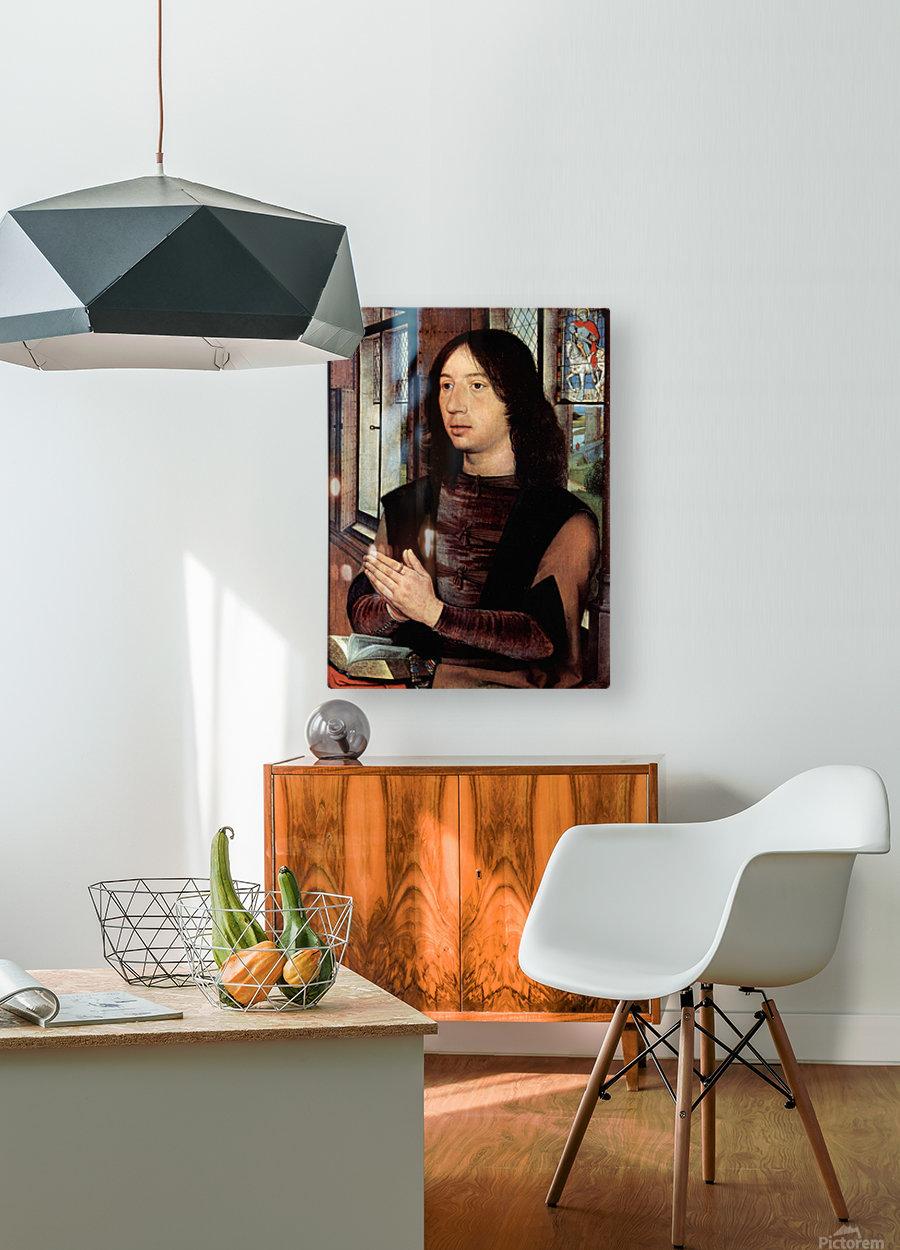 Diptychon des Maarten van Nieuwenhove  HD Metal print with Floating Frame on Back