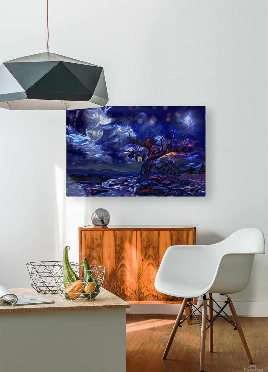 Night Landscape  HD Metal print with Floating Frame on Back