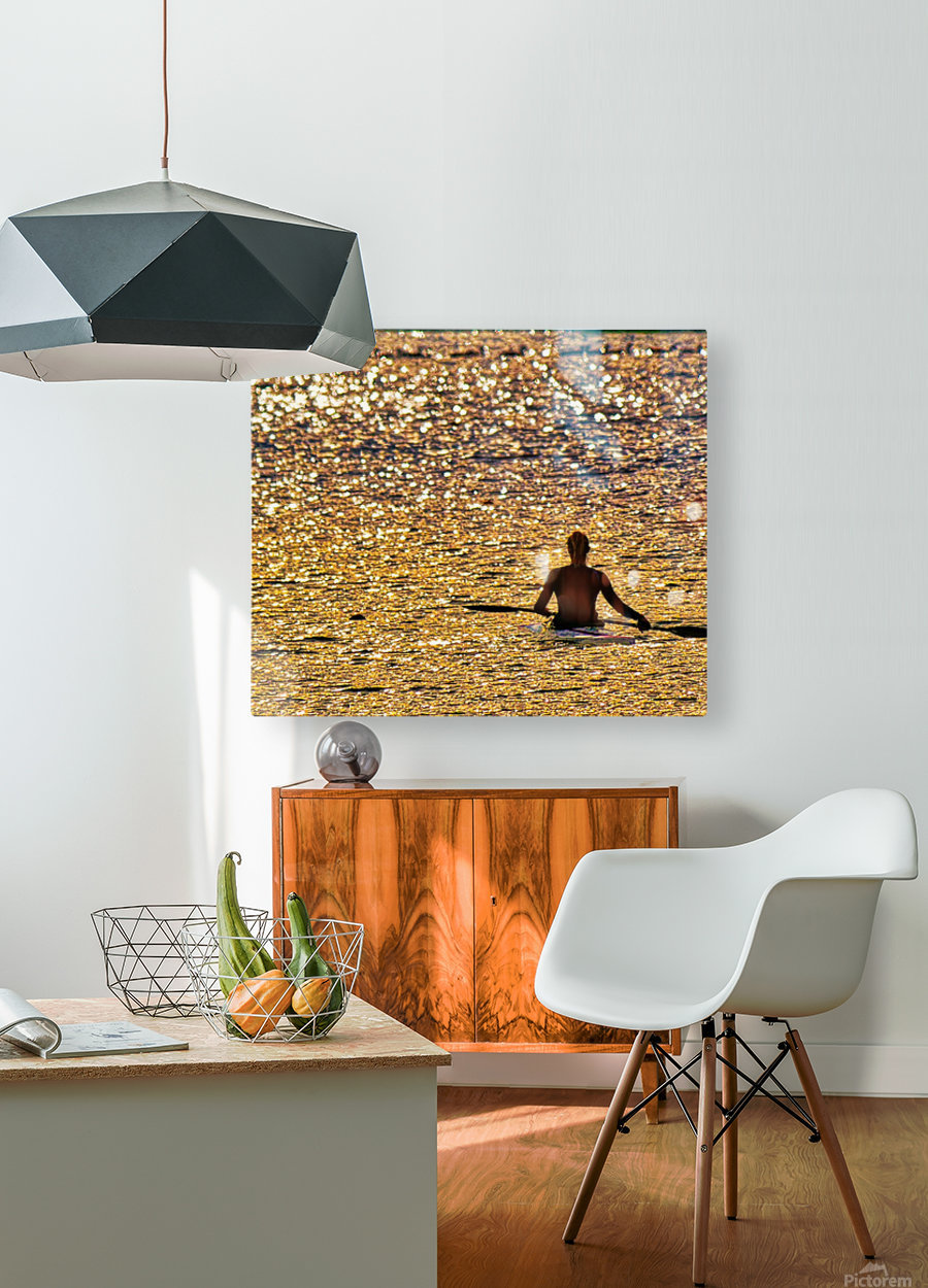 Paddle paused  HD Metal print with Floating Frame on Back