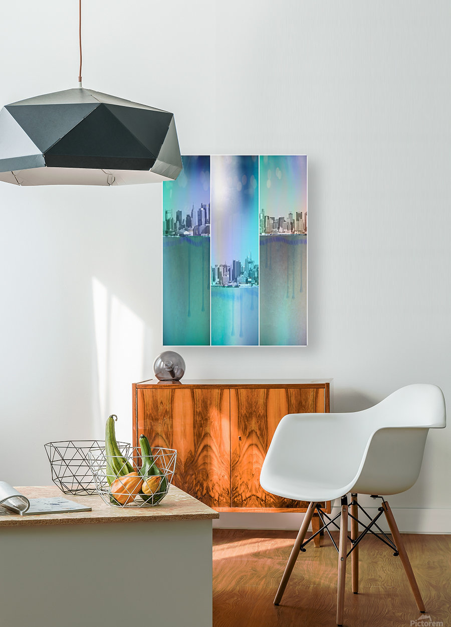 New York Art  HD Metal print with Floating Frame on Back