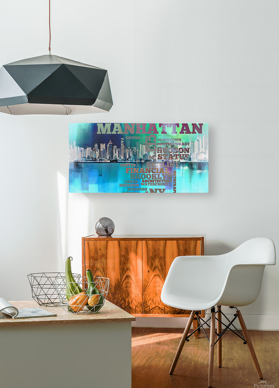 Manhattan harbor  HD Metal print with Floating Frame on Back