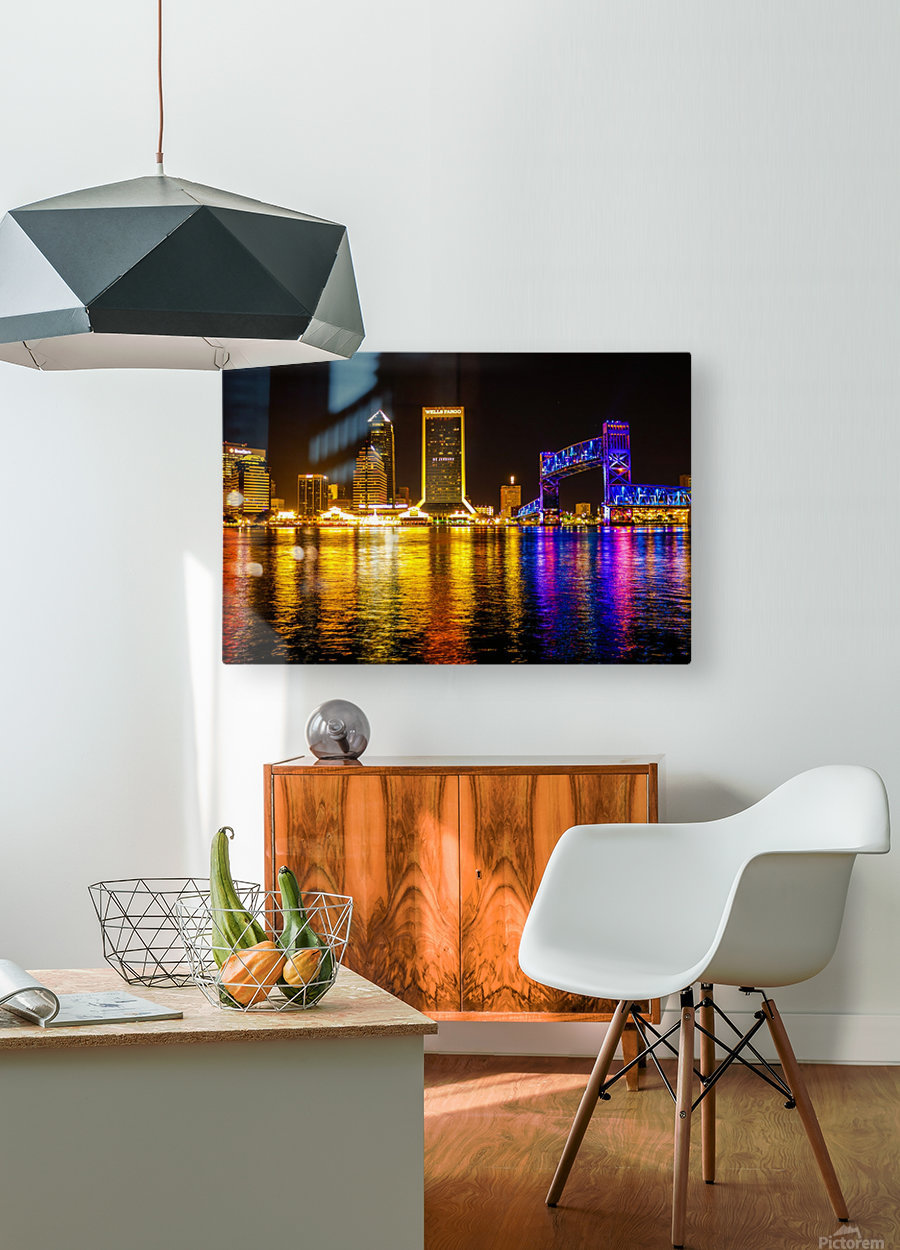 City of Lights  HD Metal print with Floating Frame on Back