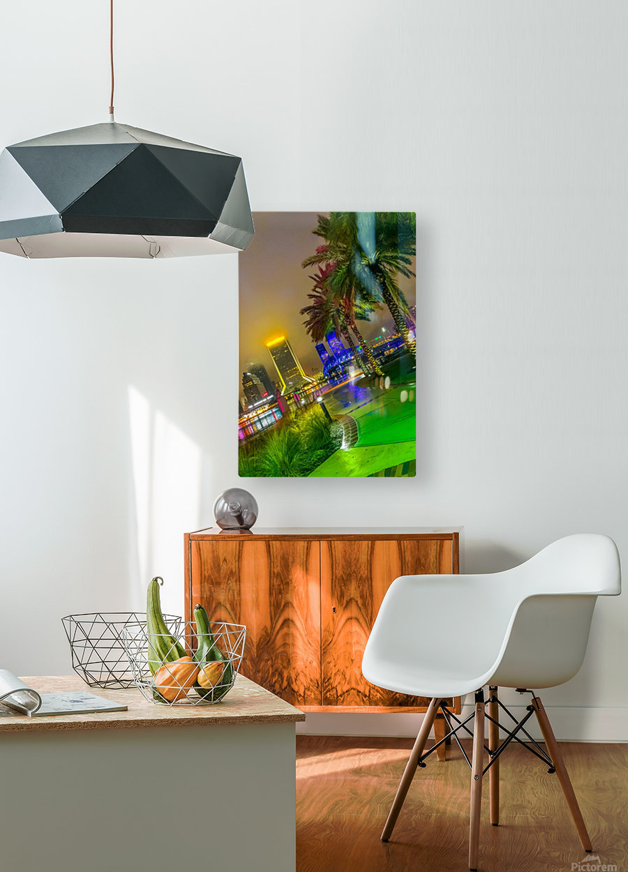 Downtown Fogg  HD Metal print with Floating Frame on Back