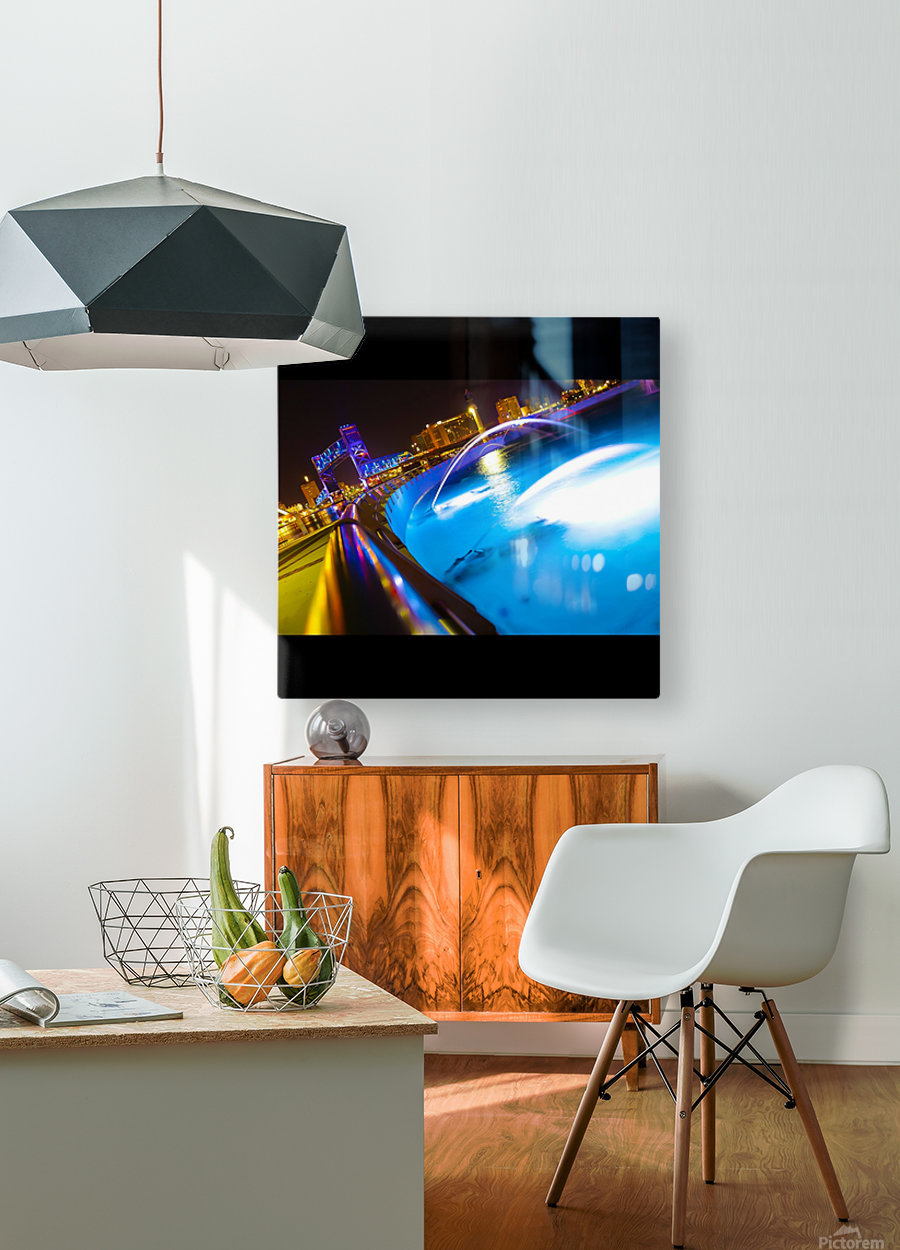 Friendship Fountain  HD Metal print with Floating Frame on Back