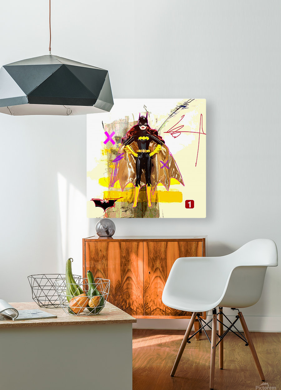BatBarbie  HD Metal print with Floating Frame on Back