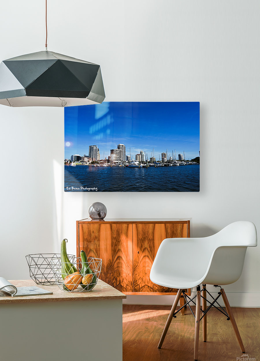 Downtown St Pete   HD Metal print with Floating Frame on Back