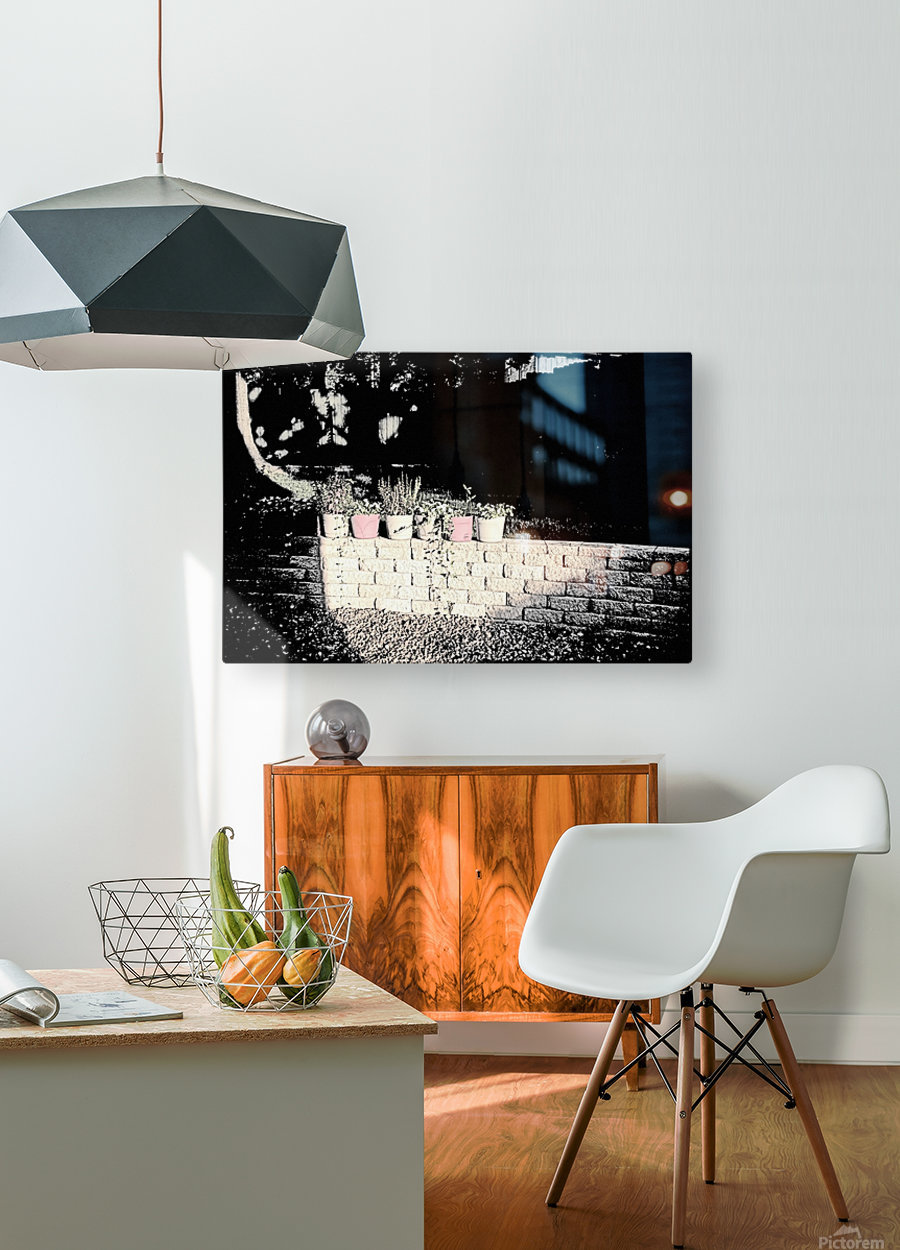 The Wall  HD Metal print with Floating Frame on Back