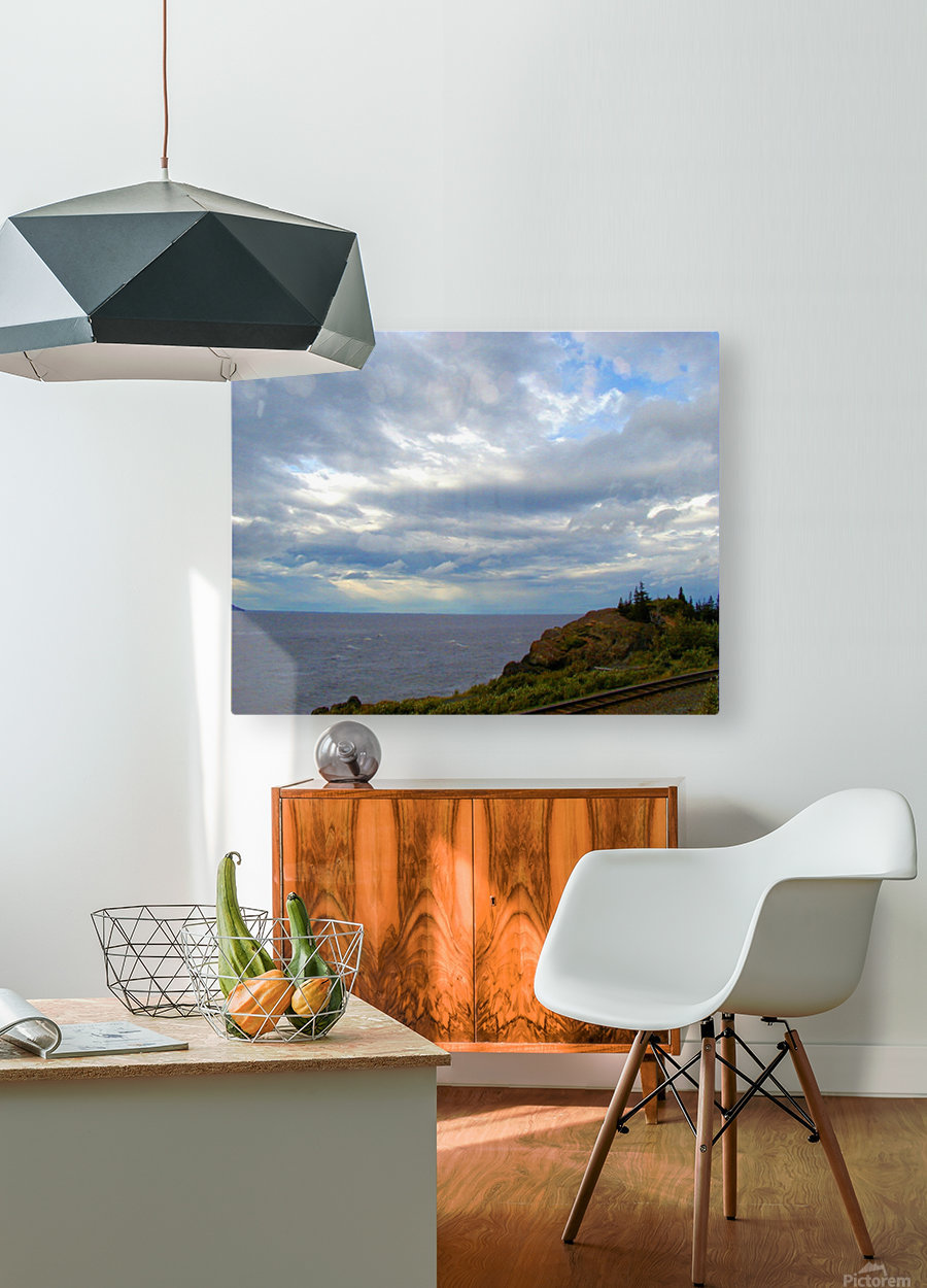 Hwy 9 to Seward  HD Metal print with Floating Frame on Back
