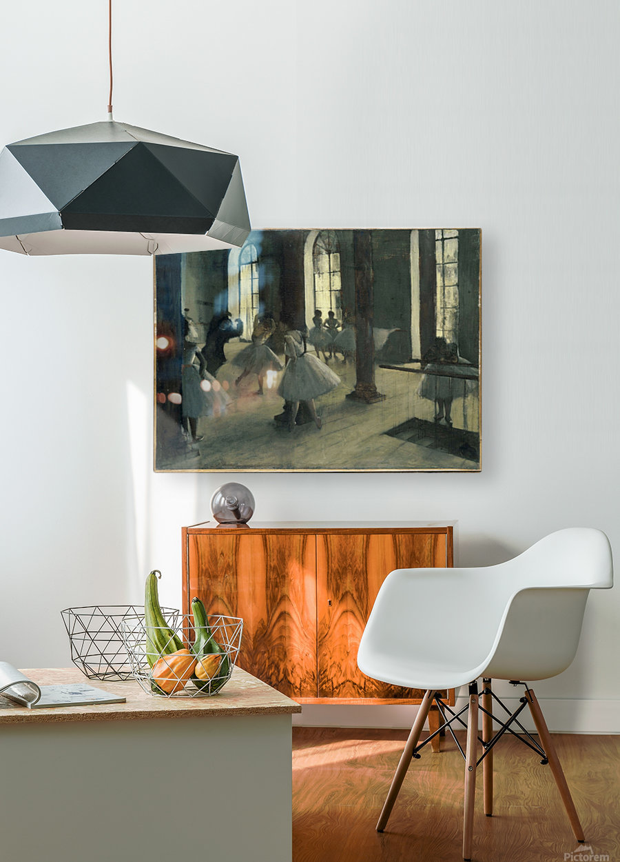 La Repetition au foyer de la danse  HD Metal print with Floating Frame on Back