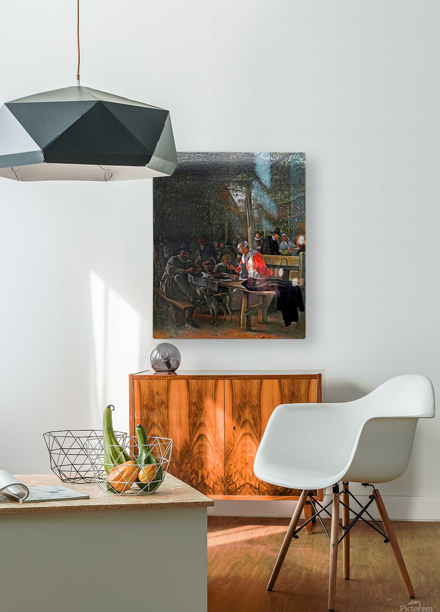 Wirtshausgarten  HD Metal print with Floating Frame on Back