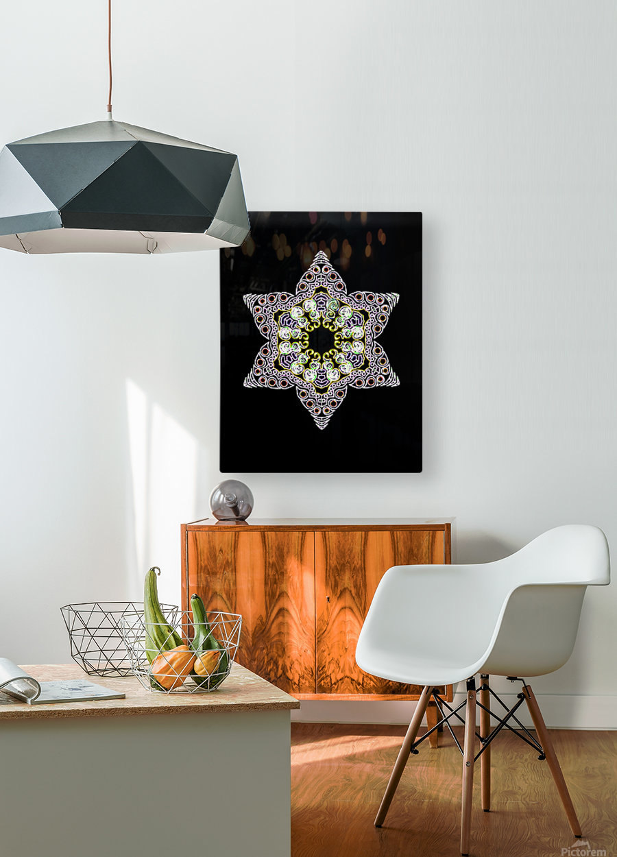 Green Star 1  HD Metal print with Floating Frame on Back