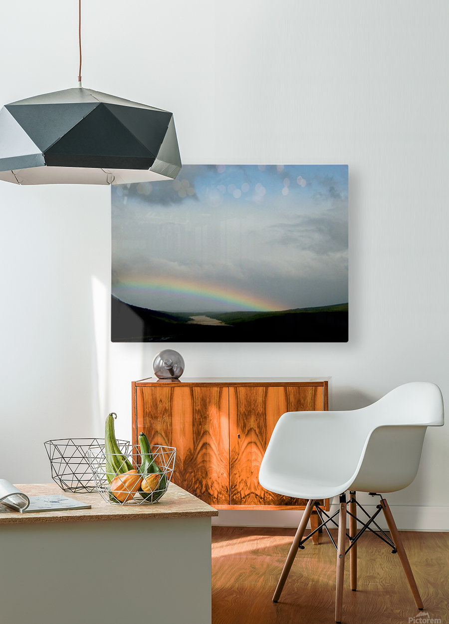 Rainbow at Thousand Smokes  HD Metal print with Floating Frame on Back