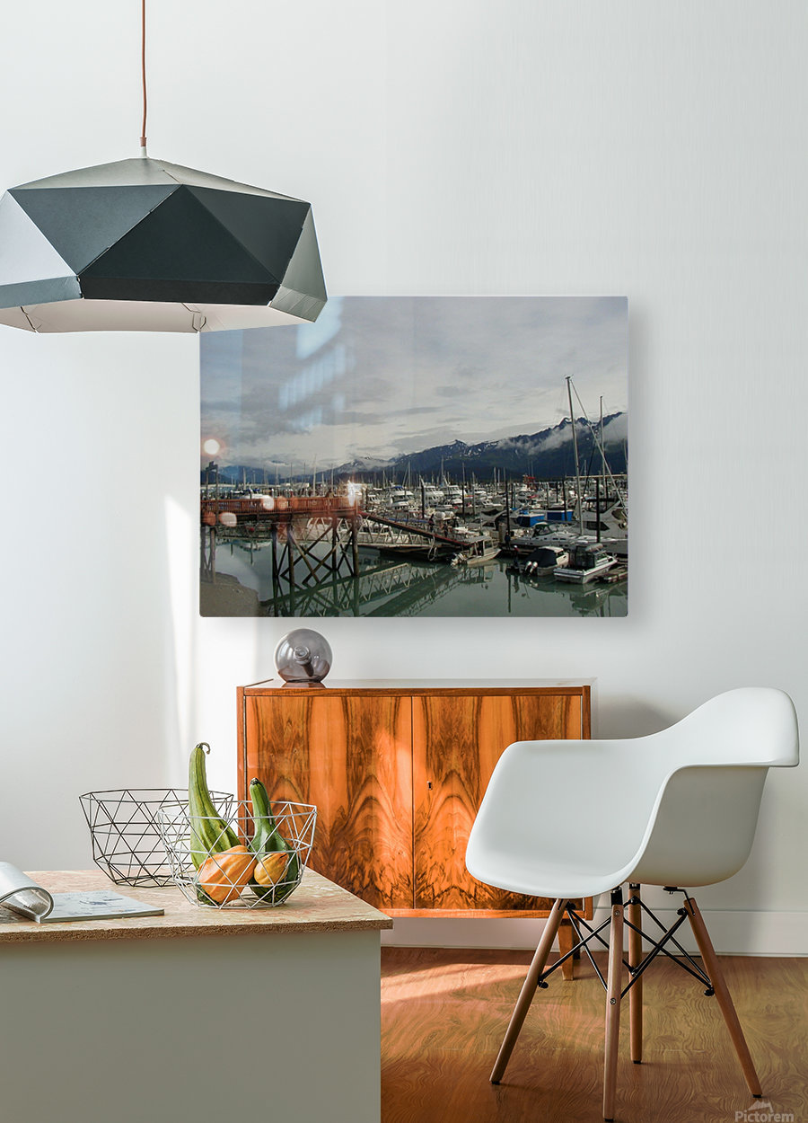 Seward Habor  HD Metal print with Floating Frame on Back