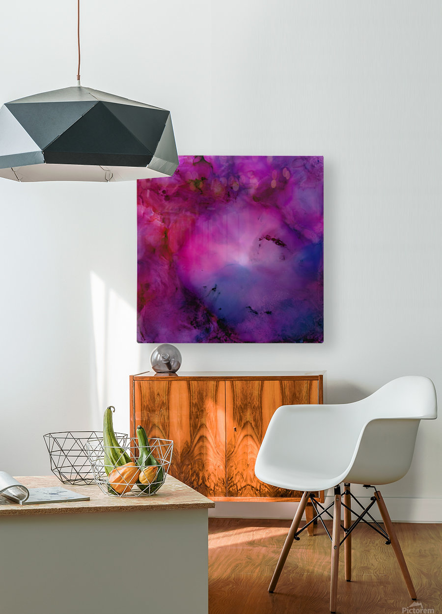 Nebula  HD Metal print with Floating Frame on Back