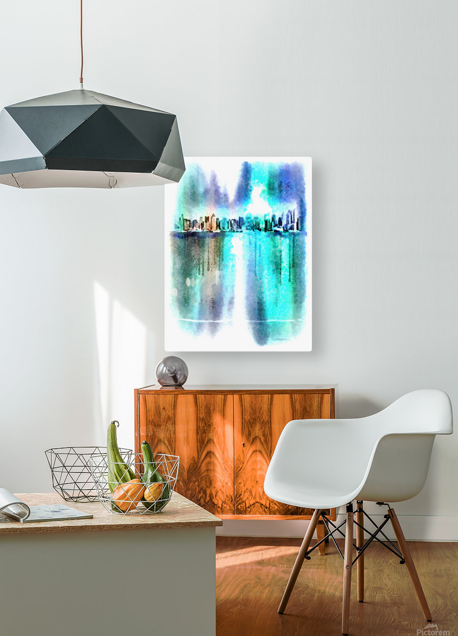 Manhattan  HD Metal print with Floating Frame on Back