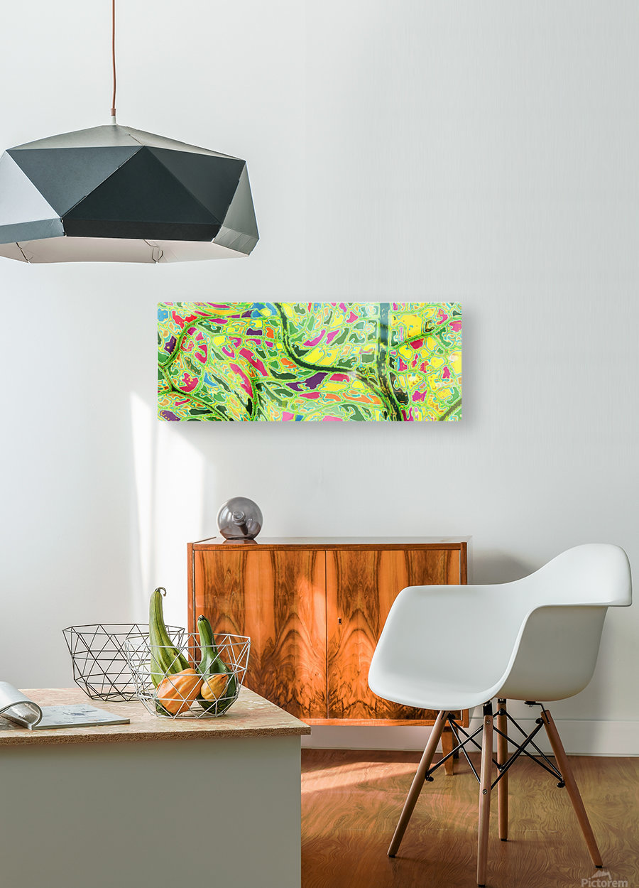 Spring Tree   HD Metal print with Floating Frame on Back