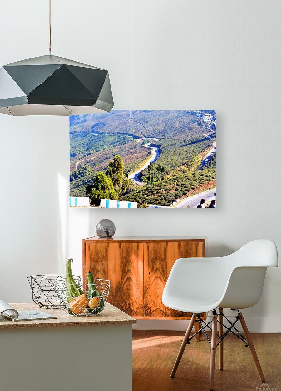 HIMALAYAN ROAD  HD Metal print with Floating Frame on Back