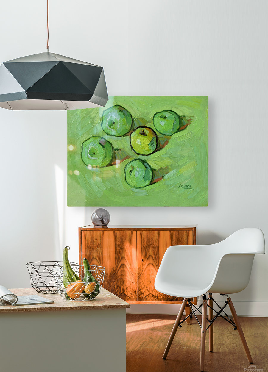 Green Apples  HD Metal print with Floating Frame on Back