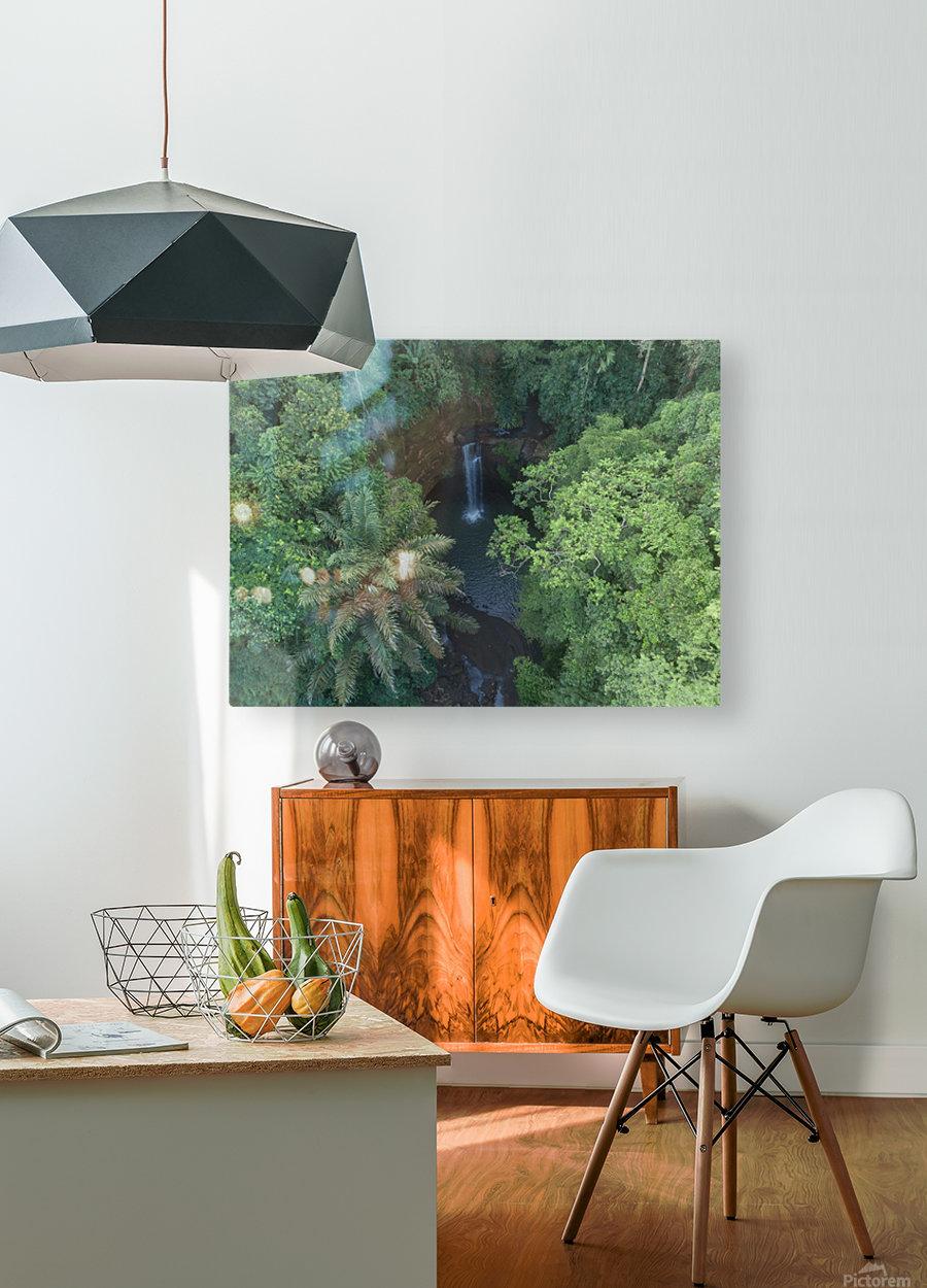 Tibumana waterfall - Bali  HD Metal print with Floating Frame on Back