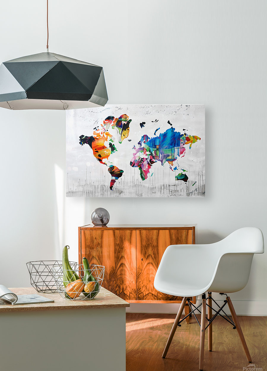 Monde  HD Metal print with Floating Frame on Back