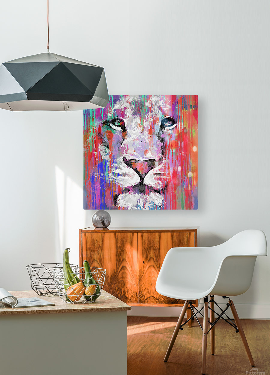 Leo  HD Metal print with Floating Frame on Back