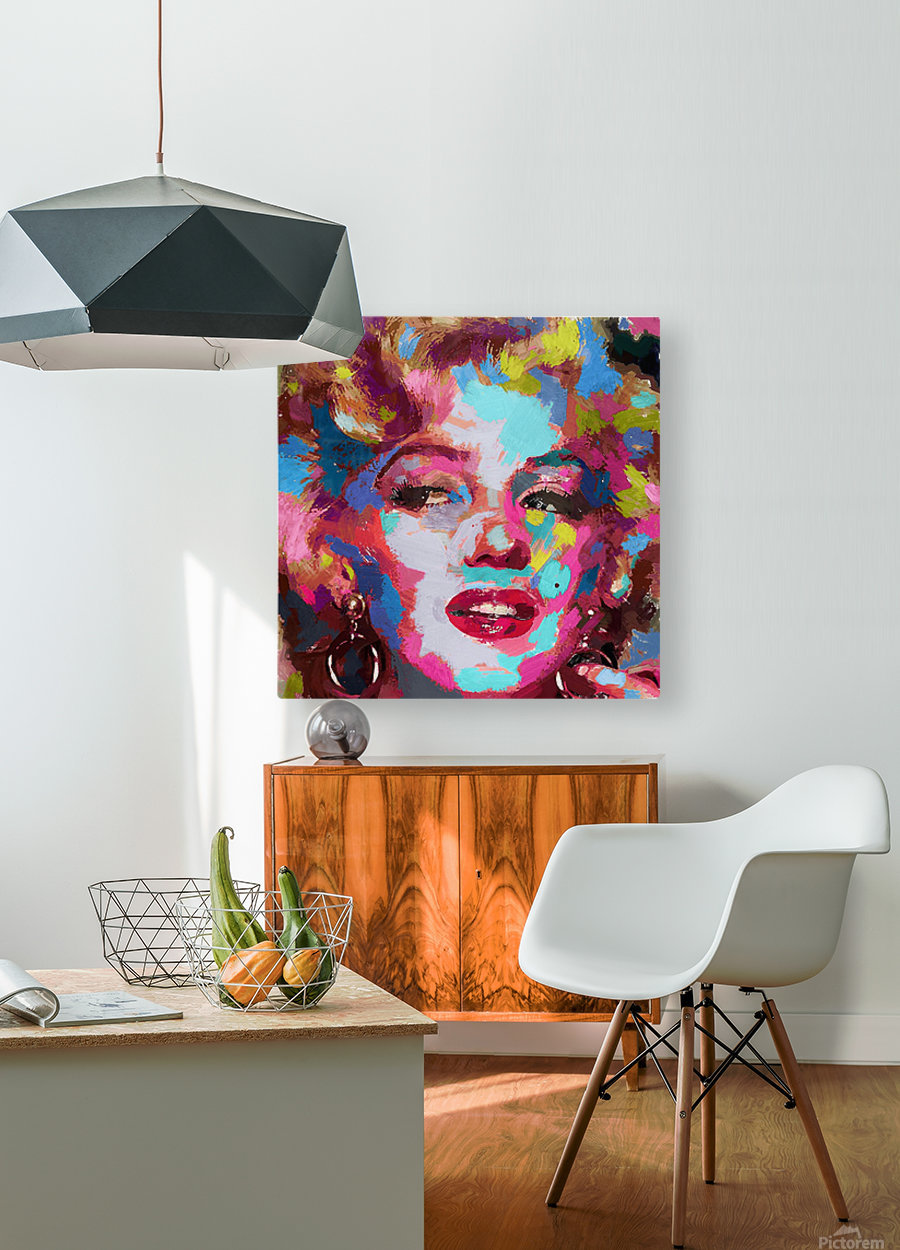 MarilynMonroe  HD Metal print with Floating Frame on Back