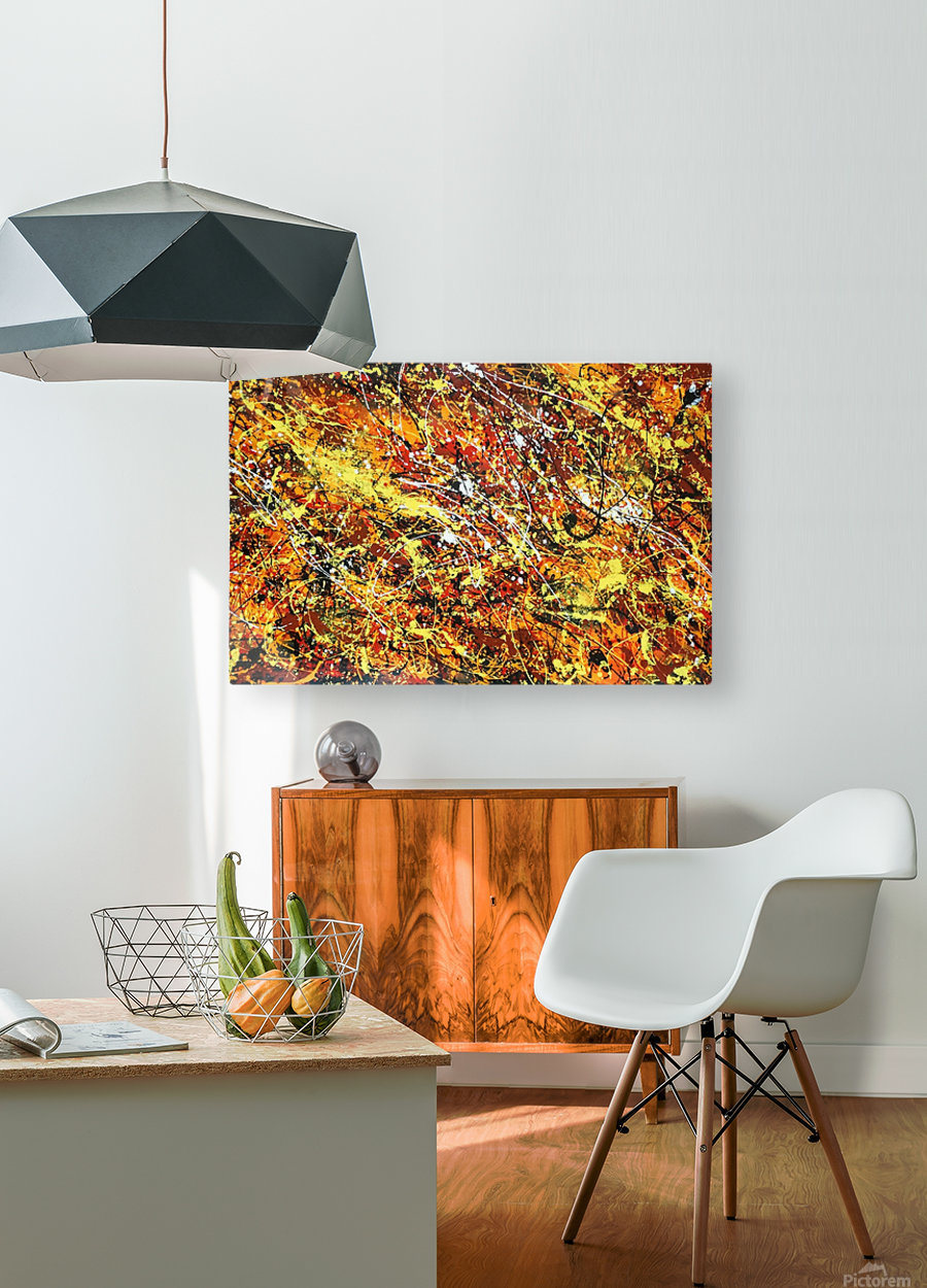 yellowy  HD Metal print with Floating Frame on Back