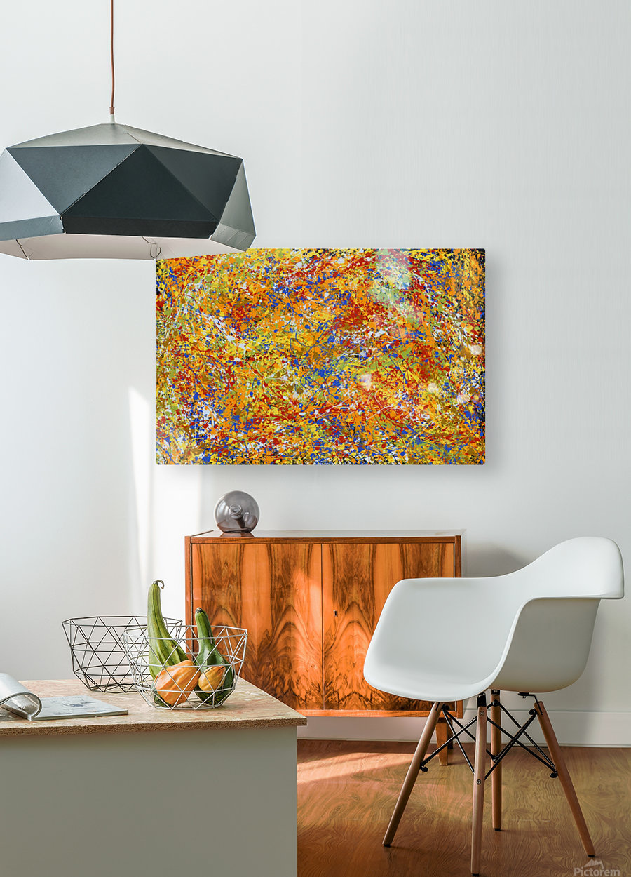 Great Mountain  HD Metal print with Floating Frame on Back