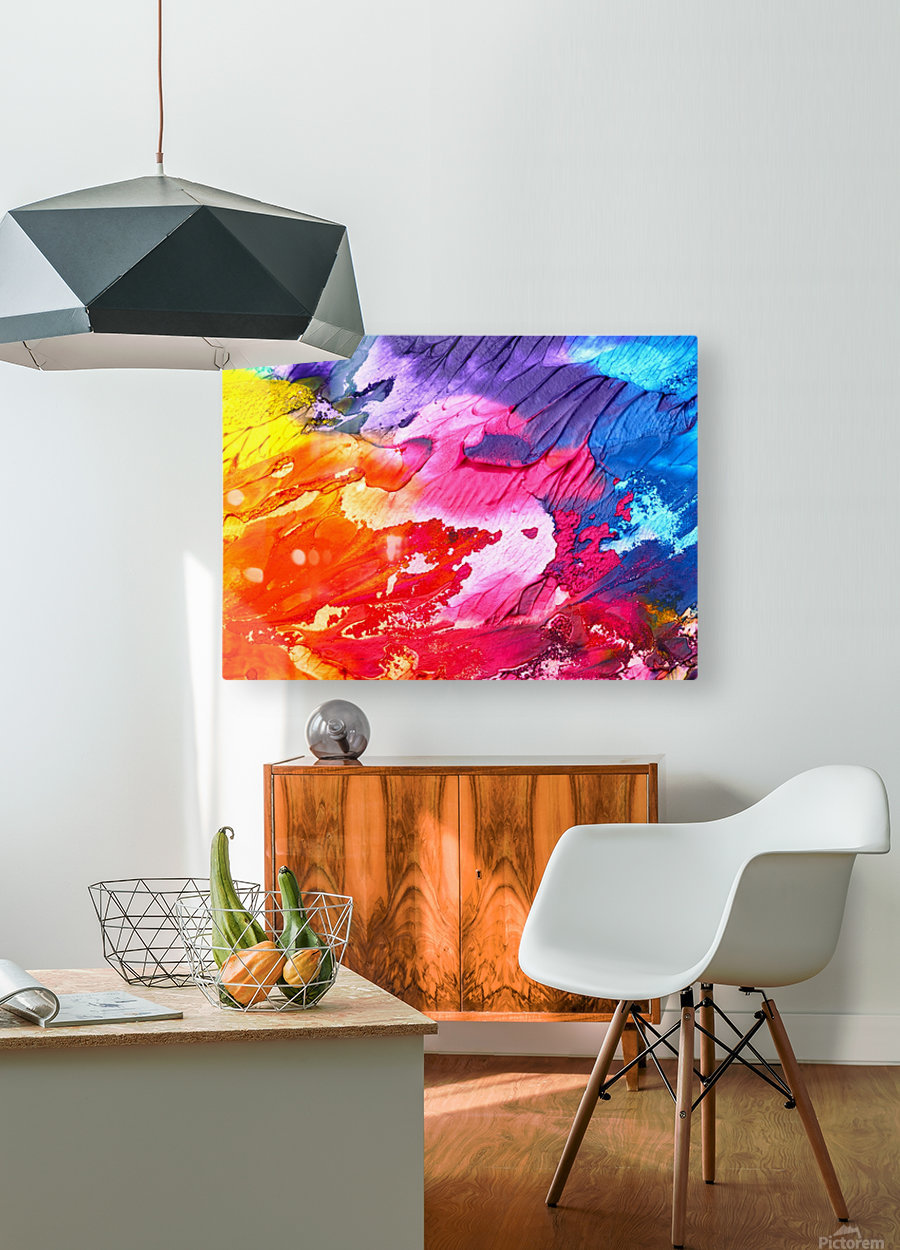 Waves Of Colors  HD Metal print with Floating Frame on Back