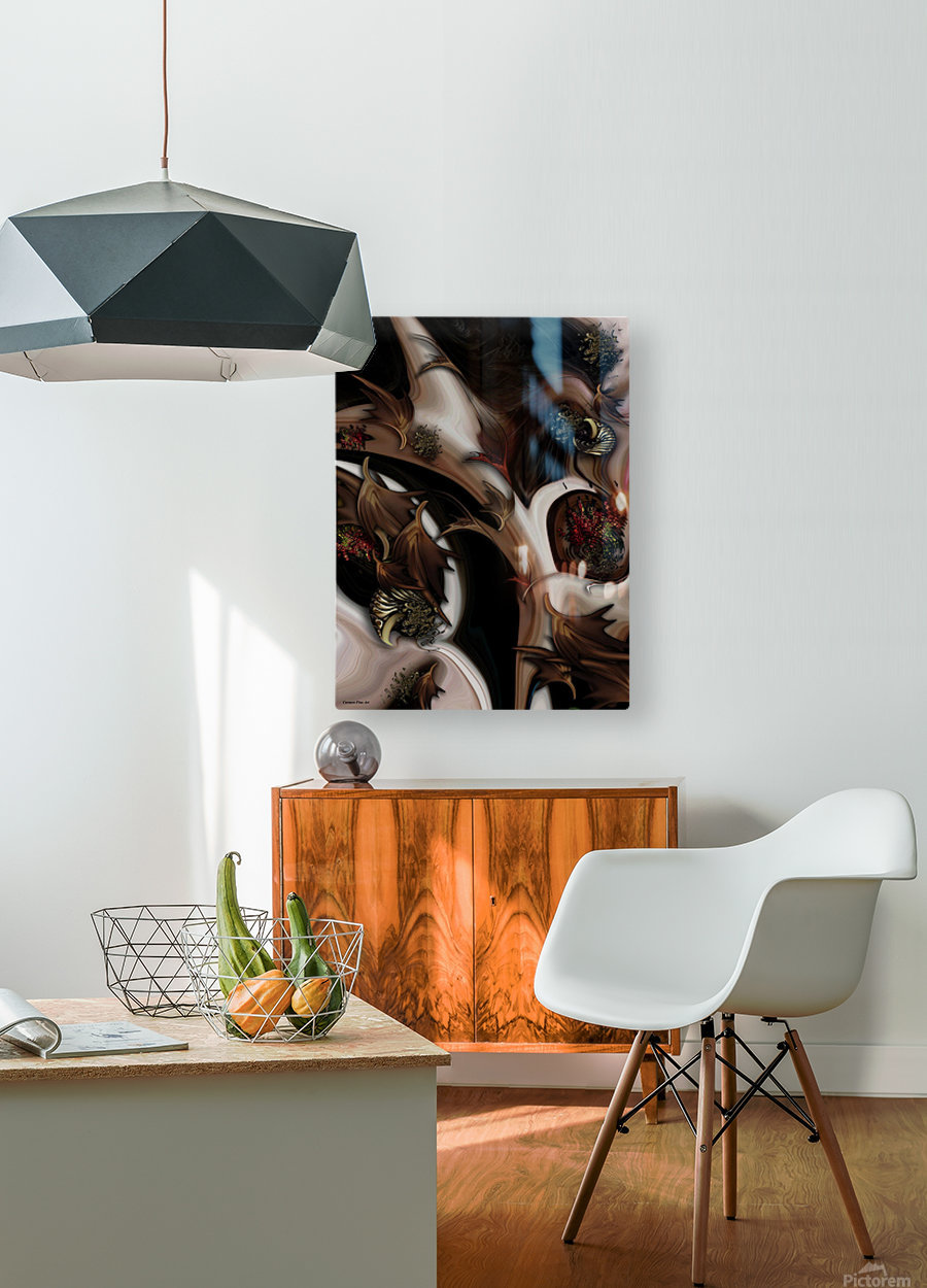 Juxtaposed Nature   HD Metal print with Floating Frame on Back