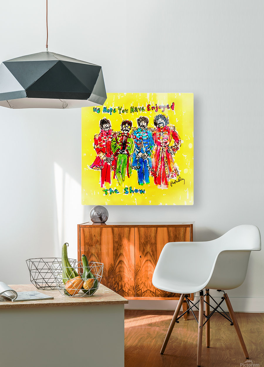 The Beatles - Enjoyed The Show  HD Metal print with Floating Frame on Back