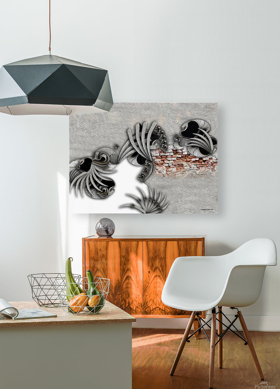 Supposed Emotion  HD Metal print with Floating Frame on Back