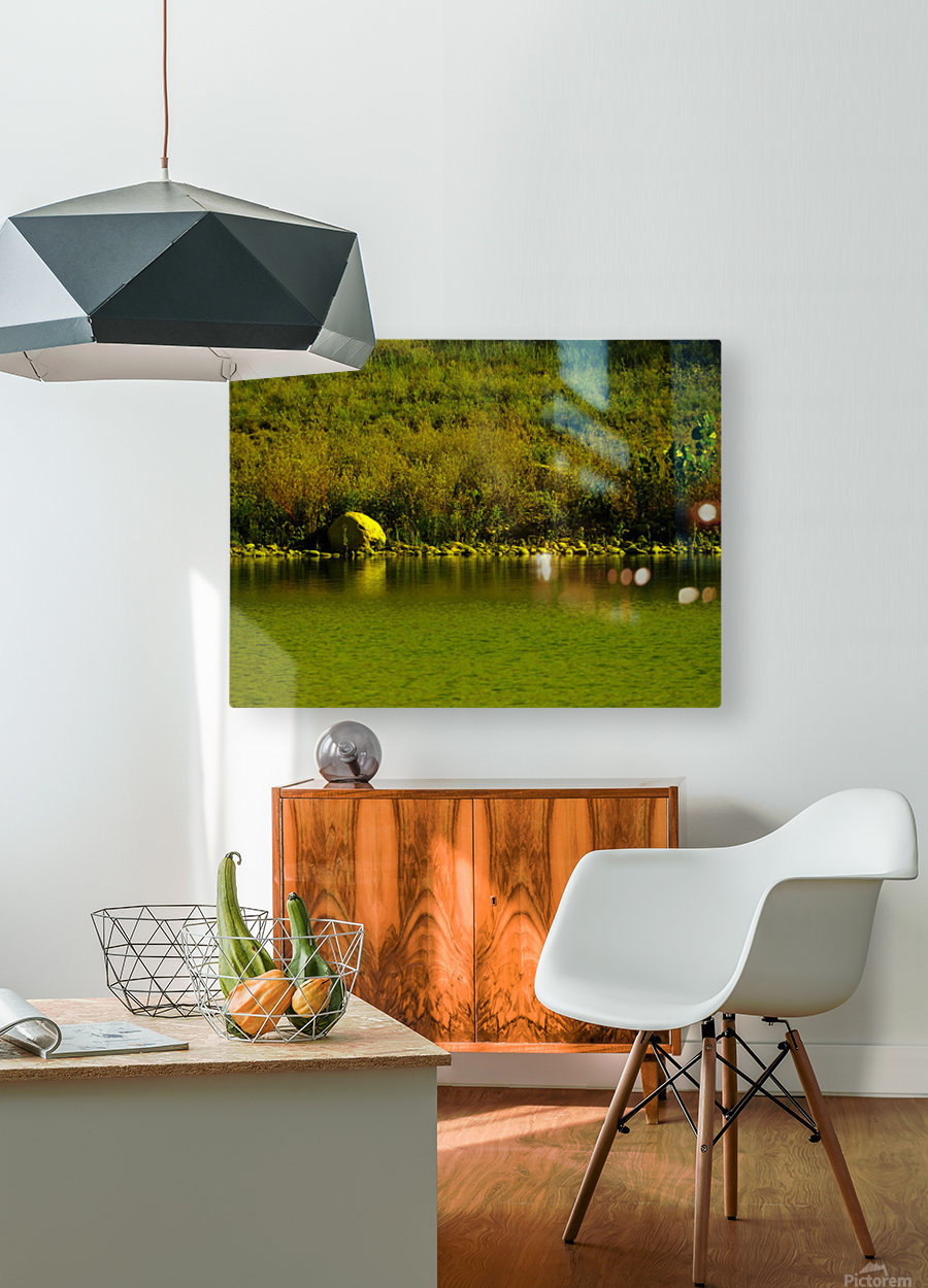H (4)  HD Metal print with Floating Frame on Back