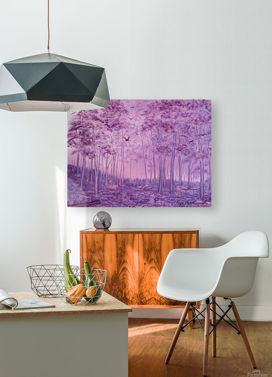 Purple Woods  HD Metal print with Floating Frame on Back