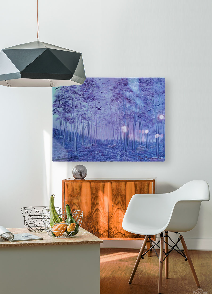 Lavender Woods  HD Metal print with Floating Frame on Back