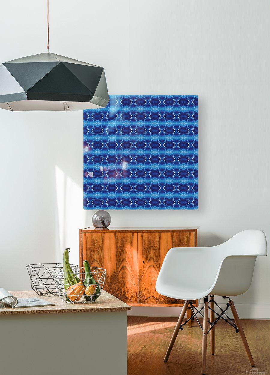 Mediteranean Morning Fractal  HD Metal print with Floating Frame on Back