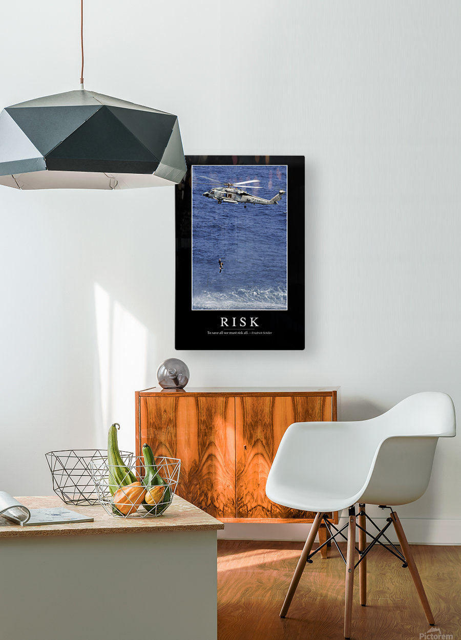 Risk: Inspirational Quote and Motivational Poster  HD Metal print with Floating Frame on Back