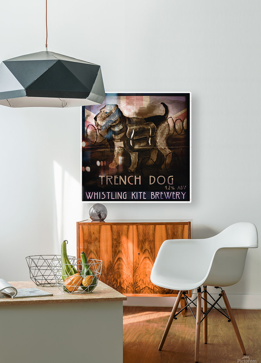 Whistling Kite Brewery: Trench Dog  HD Metal print with Floating Frame on Back