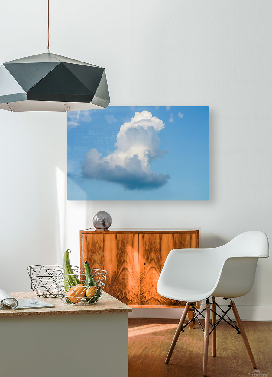 Cloud and blue sky  HD Metal print with Floating Frame on Back